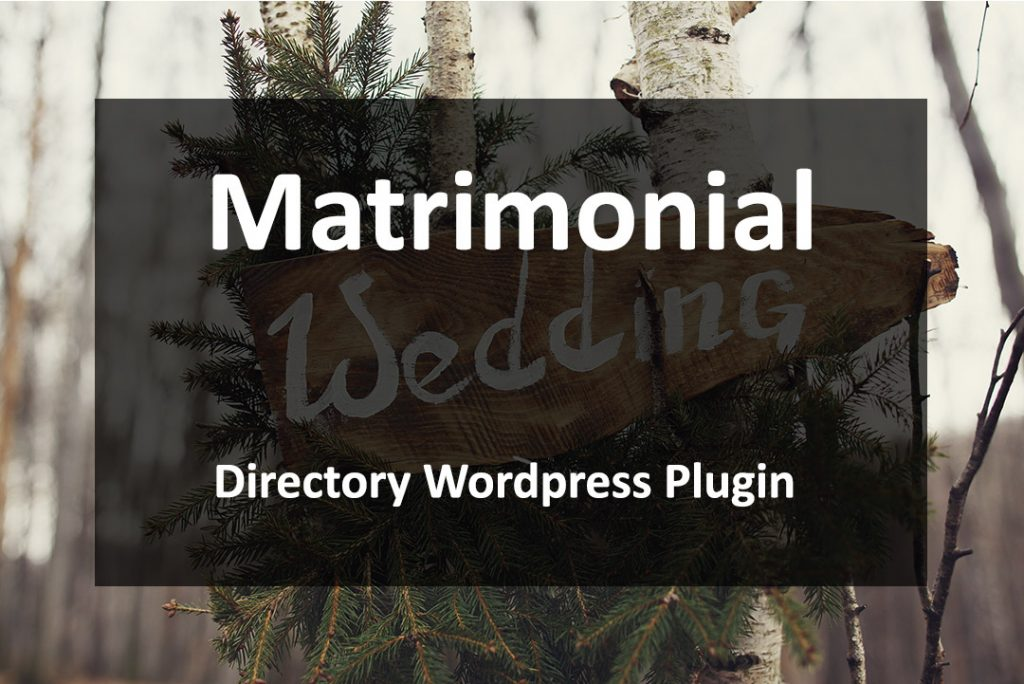 Matrimonial directory wordpress plugin