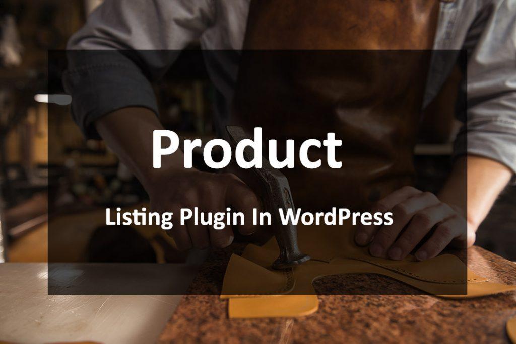 product listing plugin in wordpress