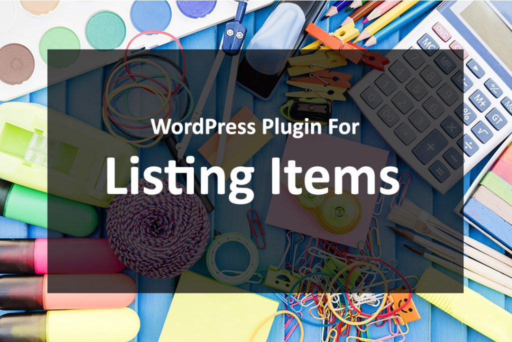 WordPress Plugin For Listing Items